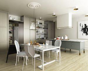 رندر آشپزخانه مدرن مینیمال اسکاندیناوی میز صبحانه A7AI4307