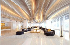 رندر سالن انتظار مدرن مینیمال رسپشن هتل کانتر پذیرش A7AI4402
