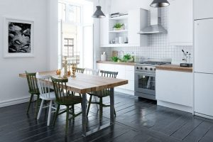 رندر آشپزخانه مدرن مینیمال چوب تراس فرگاز هود سینک ظرف میز غذاخوری چوب رندر اتاق نشمن A7AI4505