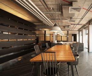 رندر اتاق جلسه میز چوب آباژور صندلی رندر مدرن سالن کنفرانس A7AI4701