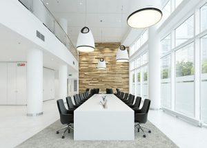 رندر اتاق کنفرانس مدرن مینیمال میز جلسات مدرن A7AI4703