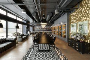 رندر رستوران مدرن کافی شاپ مینیمال میز غذاخوری A7AI4705