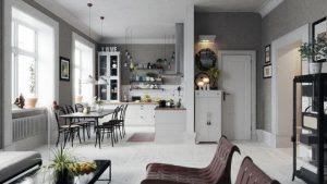 رندر آشپزخانه مدرن میز غذاخوری آشپزخانه اسکاندیناوی غذا گاز قابلمه A7AI4806
