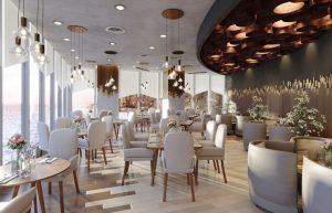 رندر رستوران کافی شاپ مدرن ساحلی A7AI5201