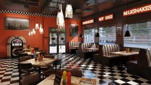 رندر رستوران فست فود پیتزا هات داگ A7AI5203