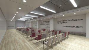 رندر سالن اجتماعات آمفی تئاتر سالن کنفرانس A7AI5306