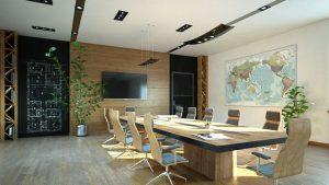 رندر اتاق جلسات اتاق کنفرانس دکور چوب A7AI5312