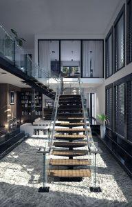 رندر خانه دوبلکس ویلا دوبلکس پله شیشه کف فرش A7AI5408
