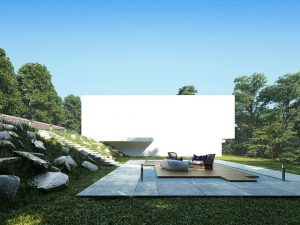 دانلود رندر ویلا جنگل چمن صندلی راحتی ZA6AE2602
