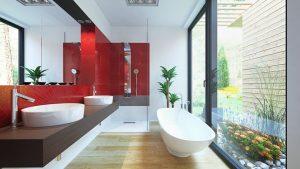 دانلود رندر دستشویی حمام مدرن روشویی آیینه وان ZA6AE2701