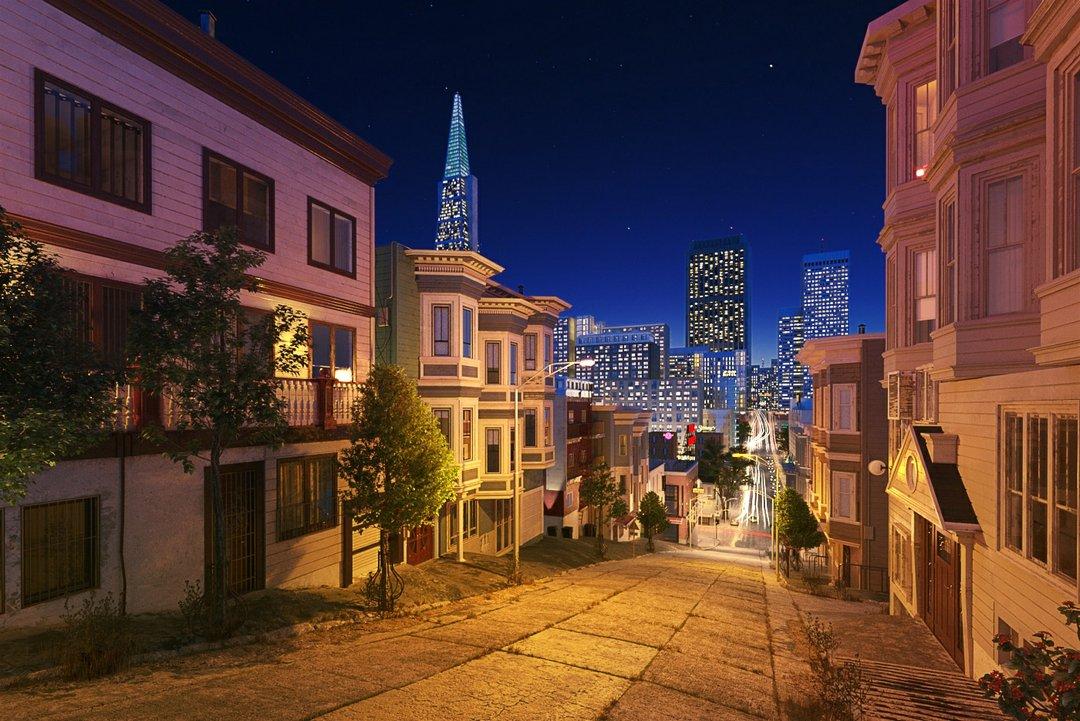 دانلود رندر نورپردازی شب شهر
