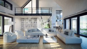 دانلود رندر ویلا اتاق نشیمن مبل ال مدرن خانه کامل ZA6AE2901
