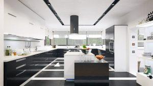 دانلود رندر ویلا خانه کامل آشپزخانه مدرن ZA6AE2901