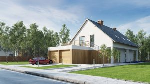 دانلود رندر ویلا کامل خانه کامل چمن سنگفرش جنگل درخت نورپردازی روز آسفالت ZA6AE3101