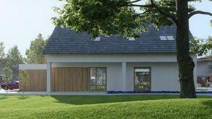 دانلود رندر ویلا کامل خانه کامل چمن درخت حیاط ZA6AE3101