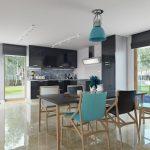 دانلود رندر ویلا کامل خانه کامل میز غذاخوری آشپزخانه ZA6AE3101