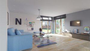 دانلود رندر ویلا کامل خانه کامل اتاق نشیمن مدرن تلویزیون ال سی دی ZA6AE3101