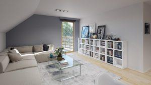 دانلود رندر ویلا کامل خانه کامل مدرن اتاق نشیمن کتابخانه ZA6AE3101