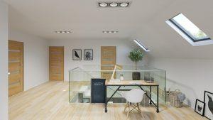 دانلود رندر ویلا کامل خانه کامل مدرن راهرو پله میز کار ZA6AE3101