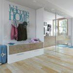 دانلود رندر ویلا کامل خانه کامل مدرن در ورودی کمد لباس ZA6AE3101