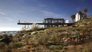 رندر ویلا کنار دریا کویر نورپردازی روز ZA6AE3410