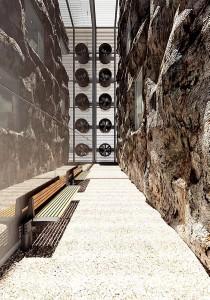 صحنه فانتزی صخره سنگی فن تهویه راهرو صندلی پارک مدل آماده رندر | A7AI0207
