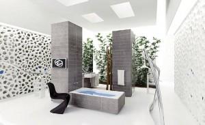 صحنه دستشویی حمام فانتزی مدرن وان مدل آماده رندر | A7AI0208