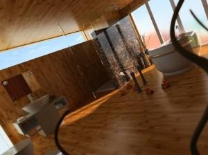 صحنه دستشویی حمام چوبی روشویی آینه مدل آماده رندر | A7AI0301