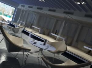 صحنه رستوران کوچک قهوه خانه سنتی مدل آماده رندر | A7AI0308