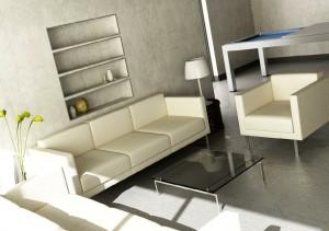 صحنه اتاق پذیرایی مبل راحتی ساده گلدان آباژور میز بیلیارد مدل آماده رندر | A7AI0406