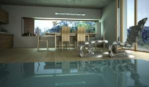 صحنه اتاق غذاخوری ناهارخوری میز چوبی مدل آماده رندر | A7AI0707