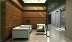 صحنه اتاق انتظار اداری مبلمان رسمی اداری فضای انتظار گلدان بنجامین مدل آماده رندر | A7AI0806