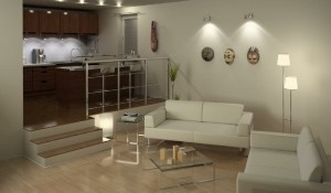 صحنه خانه منزل آشپزخانه پذیرایی مبلمان رسمی مدل آماده رندر   A7AI0808