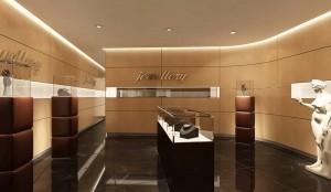 صحنه فروشگاه طلافروشی تجاری شیک مدل آماده رندر | A7AI0905
