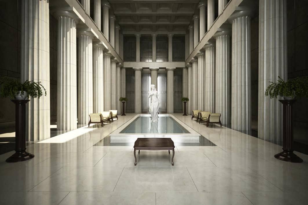 رندر معماری بیزانس