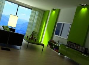 صحنه اتاق تلویزیون مدرن نشیمن ال سی دی میزتلویزیون شید کرکره مدل آماده رندر | A7AI1008