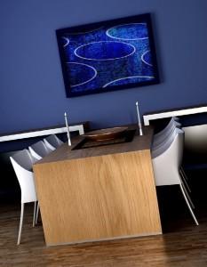 صحنه رستوران کافی شاپ میز صندلی مدل آماده رندر | A7AI1105