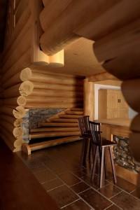 صحنه خانه منزل چوبی کلاسیک صندلی کانتر مدل آماده رندر | A7AI1106