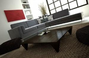 صحنه اتاق نشیمن خانه منزل مبل ال راحتی کوسن گلدان تزئینی مدل آماده رندر | A7AI1107