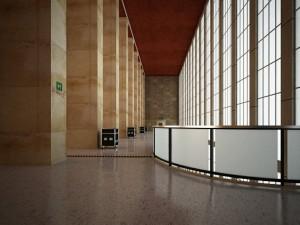 صحنه فضای عمومی ایستگاه قطار فرودگاه بیمارستان سقف بلند مدل آماده رندر | A7AI1303