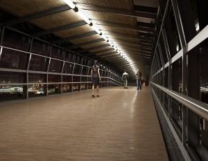 صحنه فضای عمومی ایستگاه قطار مترو فرودگاه راهرو مدل آماده رندر | A7AI1305