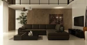 صحنه اتاق تلویزیون پذیرایی مبل ال فرش تزئینی قاب عکس مدرن تلویزیون ال سی دس گلدان تزئینی لوستر مدل آماده رندر | A7AI1404