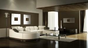 صحنه اتاق پذیرایی نشیمن مبلمان ال بزرگ فرش پرزدار آباژور گلدان تزئینی پرده ساده کوسن مدل آماده رندر | A7AI1409