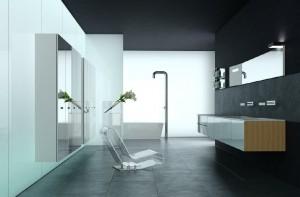 صحنه دستشویی حمام وان فانتزی روشویی آیینه مدل آماده رندر | A7AI1610