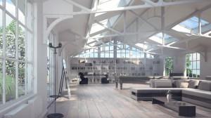 صحنه خانه کامل نشیمن مطالعه کار کتابخانه مبل مدل آماده رندر | A7AI2101