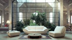 صحنه اتاق پذیرایی نشیمن فرش ایرانی مبل راحتی آباژور کف پارکت مدل آماده رندر | A7AI2105