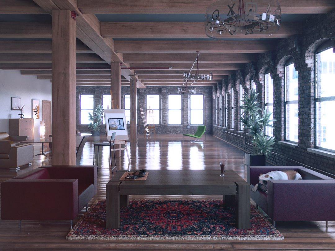 رندر خانه کامل فرش ایرانی