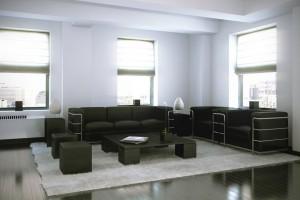 صحنه اتاق نشیمن پذیرایی مبل راحتی آباژور فرش پرزدار مدل آماده رندر | A7AI2205