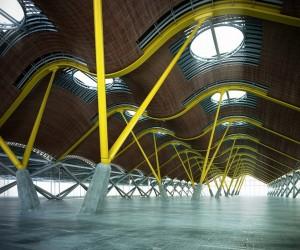 صحنه فضای عمومی مسقف موجدار سوله کف سیمان مدل آماده رندر | A7AI2405