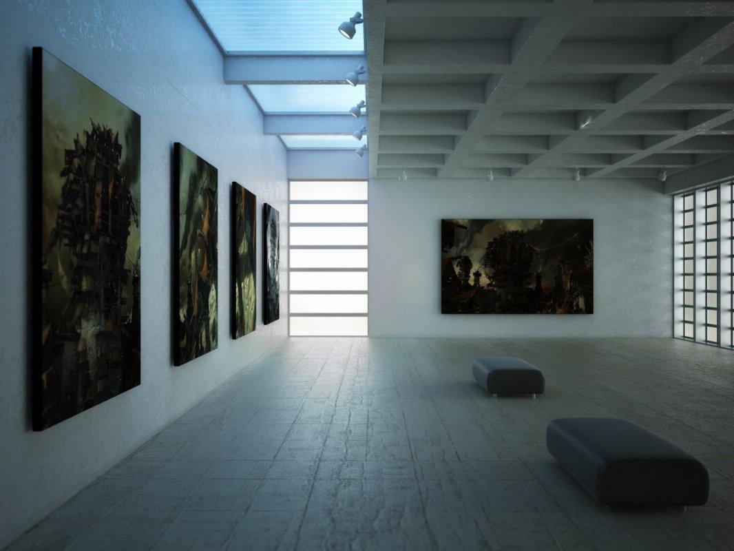 رندر گالری عکس تابلو مدرن